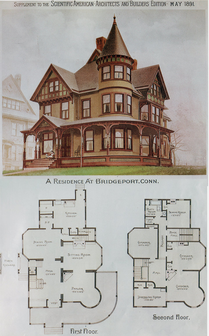 House plans victorian mini for Old victorian house plans